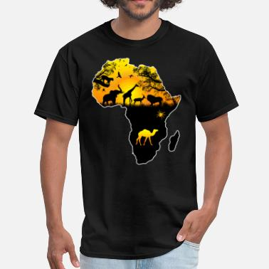 Africa Map AFRICAN SAFARI MAP - Men's T-Shirt