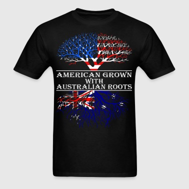 American Grown With Australian Roots - Men's T-Shirt