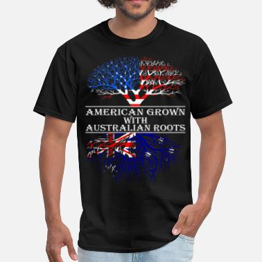 Australian Roots American Grown With Australian Roots - Men's T-Shirt