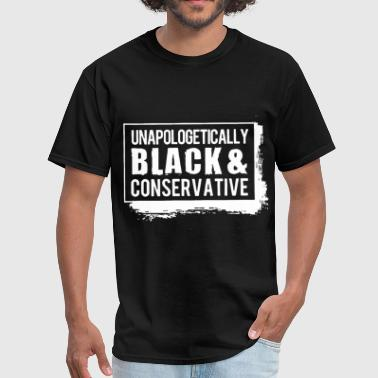 unapologetically black and conservative autism ath - Men's T-Shirt