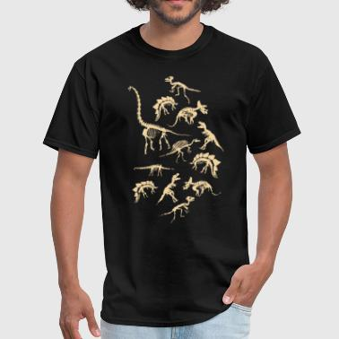 Dinosaur Tank Top Fossils Dino Skeletons Print on - Men's T-Shirt