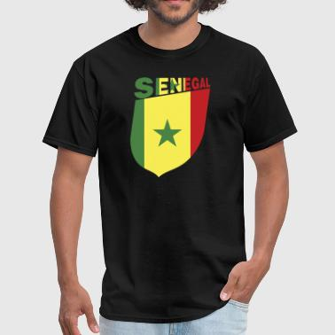 Senegal Flag Shield - Men's T-Shirt