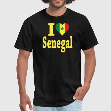 I Love Senegal Flag - Men's T-Shirt