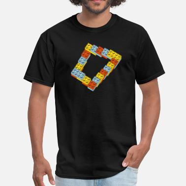 Step On A Lego optical illusion - endless steps - Men's T-Shirt