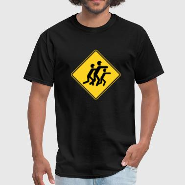 Zombies Road Sign Warning Sign Zombies - Men's T-Shirt