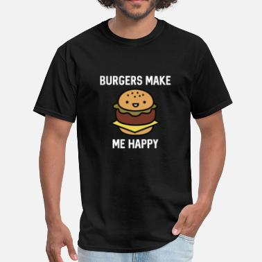 Hamburger Burgers Make Me Happy - Men's T-Shirt