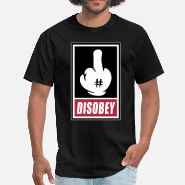 Mickey Hands Supreme Fck Disobey 3c - Men's T-Shirt