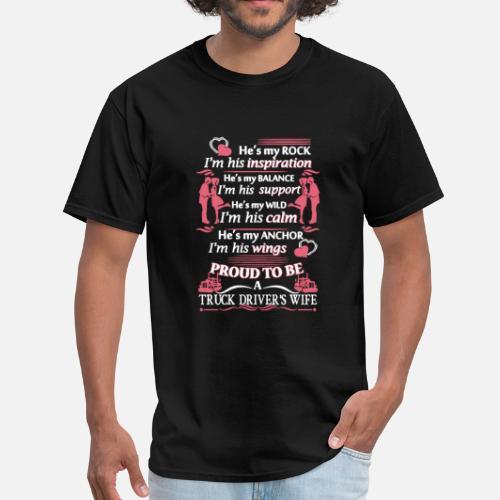 Truck Driver S Wife Shirt Men S T Shirt Black
