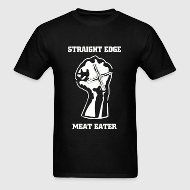 Straight Edge Meat Eater - Men's T-Shirt