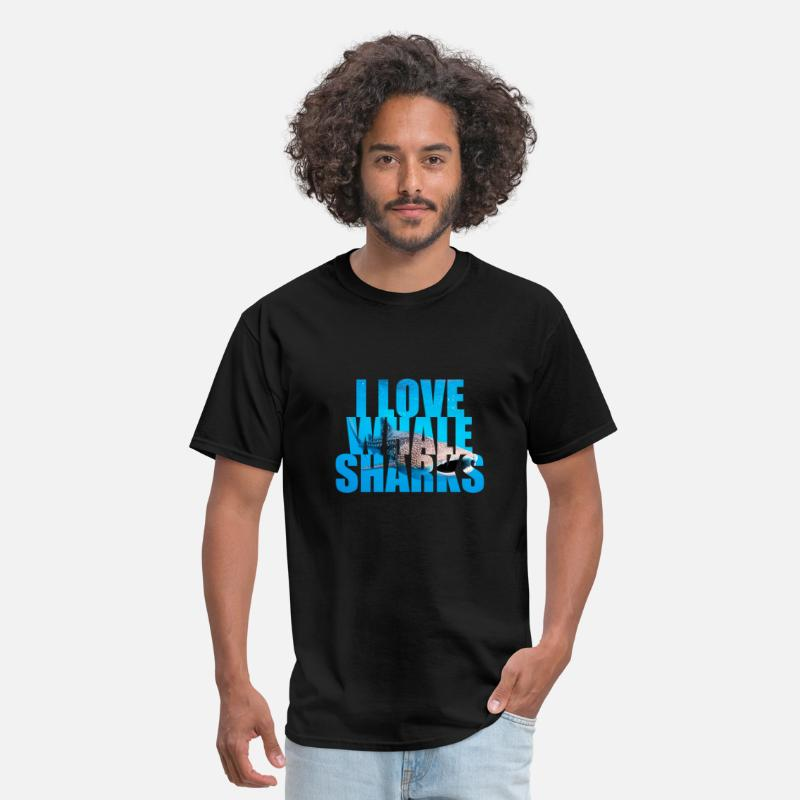Whale T-Shirts - I Love Whale Sharks - Men's T-Shirt black