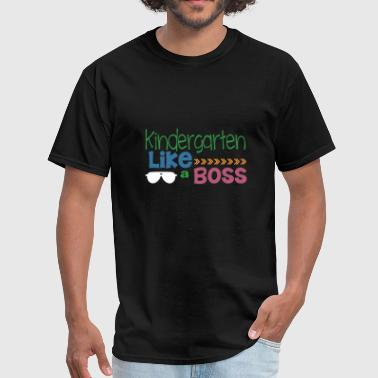Jerking Off Kindergarten TShirt Gift Kindergarten Like A Boss - Men's T-Shirt