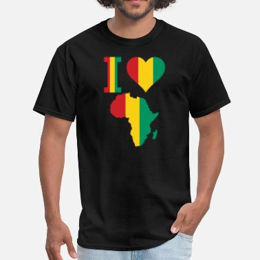 Guinea-conakry Flag I Love Africa Guinea Conakry - Men's T-Shirt