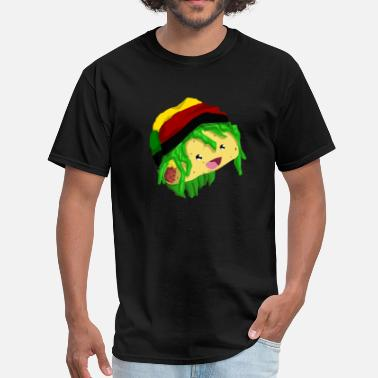 Rasta Cartoon rasta taco - Men's T-Shirt