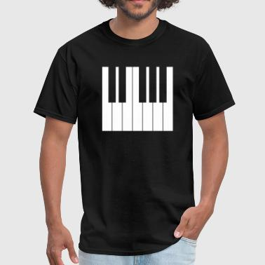 keyboard piano white keys - Men's T-Shirt