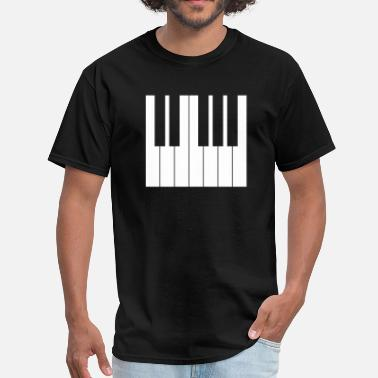 Keyboard Keys keyboard piano white keys - Men's T-Shirt