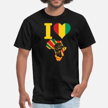 Guinea-conakry Flag Guinea Conakry Black Power - Men's T-Shirt