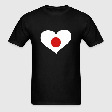 Japan Heart; Love Japan - Men's T-Shirt