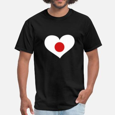 Heart Japan Japan Heart; Love Japan - Men's T-Shirt