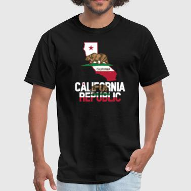California Flag Map - Men's T-Shirt