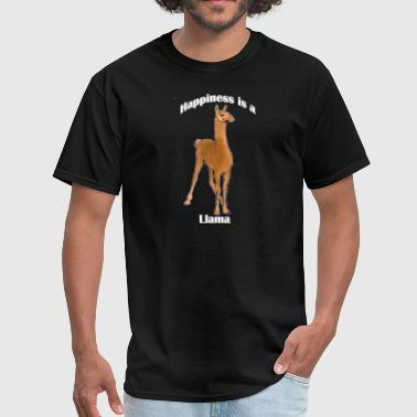 Happy Llama Happiness is a Llama - Men's T-Shirt