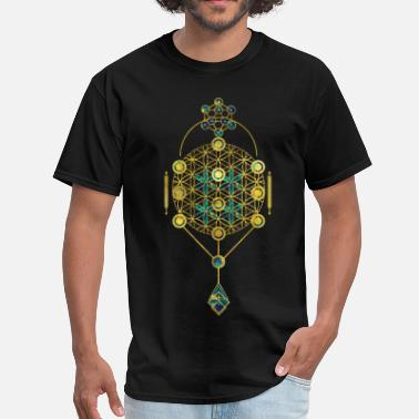 Sacred Symbols Decorative Sacred Geometry symbol   - Men's T-Shirt