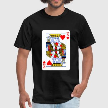 Card King King Of Hearts Couple - Men's T-Shirt