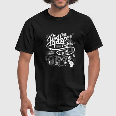 Hip hop - i love hip hop music graffiti street - Men's T-Shirt