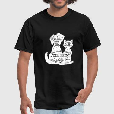 Dogs and Cats are best Friends - Men's T-Shirt