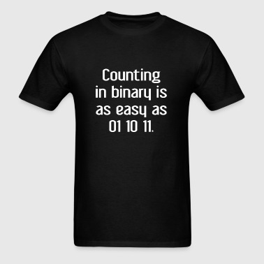 Counting In Binary - Men's T-Shirt