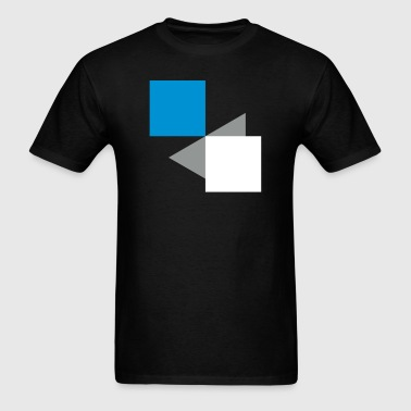 Squares Rectangles Abstract 3c - Men's T-Shirt