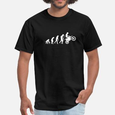 Evolution Motorcycle Evolution of Motorcycling - Men's T-Shirt