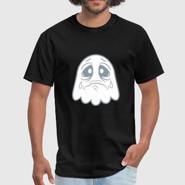 crying sad tears unhappy offended ghost cute cute - Men's T-Shirt