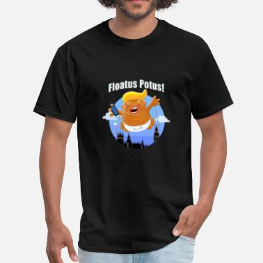 Blimp Trump Inflatable Baby Blimp Floating England - Men's T-Shirt