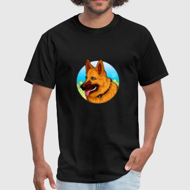 Berger Allemand German Shepherd Dog Illustration - Men's T-Shirt