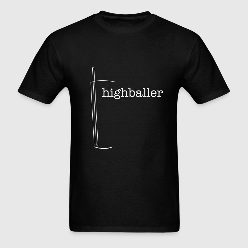 Highball Glass Outline - Men's T-Shirt