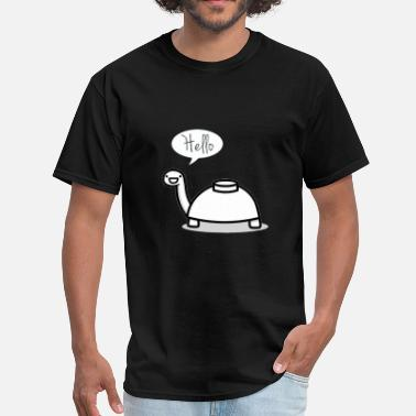 Turtle Mine turtle stops by to say hello - Men's T-Shirt