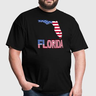 Florida Map US Flag - Men's T-Shirt