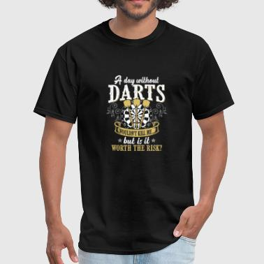 Darters Darts Shirt - Dart Board - Is it worth the risk? - Men's T-Shirt