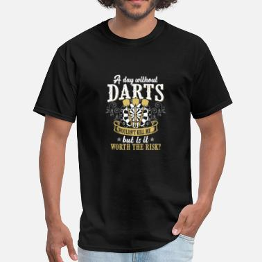Darts Funny Darts Shirt - Dart Board - Is it worth the risk? - Men's T-Shirt