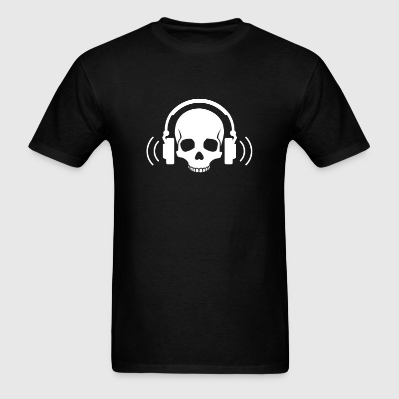 Skull Headphones - Men's T-Shirt