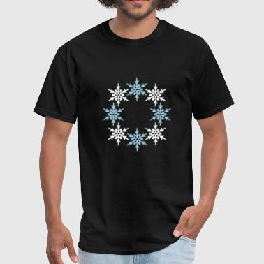 Wishes winter ring circle round pattern design cool cold - Men's T-Shirt