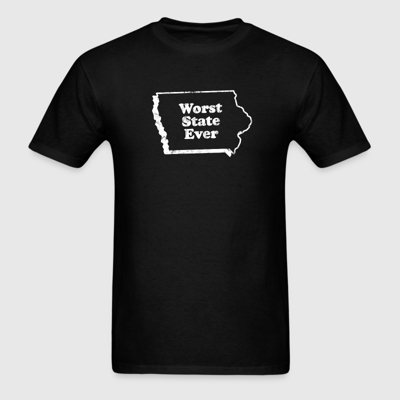 IOWA - WORST STATE EVER - Men's T-Shirt