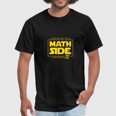Pi - pi day funny - come to the math side we hav - Men's T-Shirt