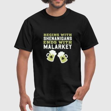 Canada Ireland St patricks day - shenanigans and malarkey saint - Men's T-Shirt