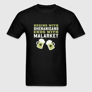 St patricks day - shenanigans and malarkey saint - Men's T-Shirt