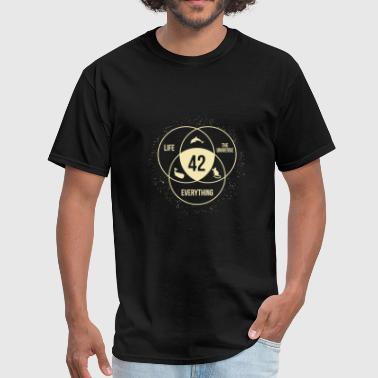 Heath Universe - the answer to life universe and every - Men's T-Shirt