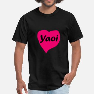 Yaoi Yaoi Heart - Men's T-Shirt