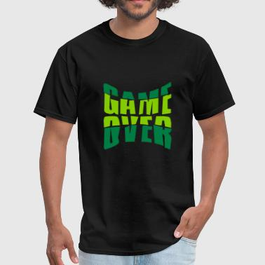 text game over puke handed break nausea vomit spit - Men's T-Shirt