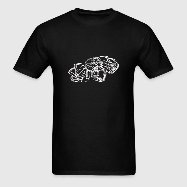 Line Art Crab - Men's T-Shirt