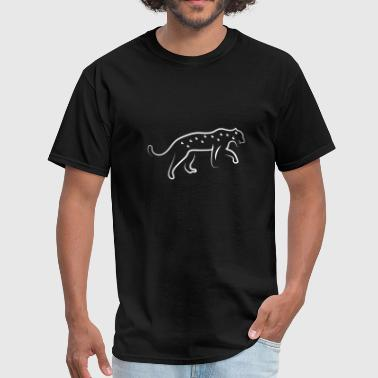 Leopard Simple Line Art - Men's T-Shirt